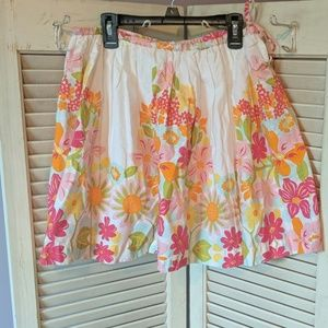 Lands End beautiful floral skirt
